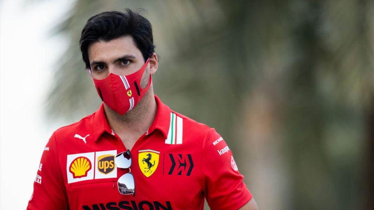 Carlos Sainz prima delle prove libere di GP Bahrain - Mondiale Formula 1 2021 - Getty Images