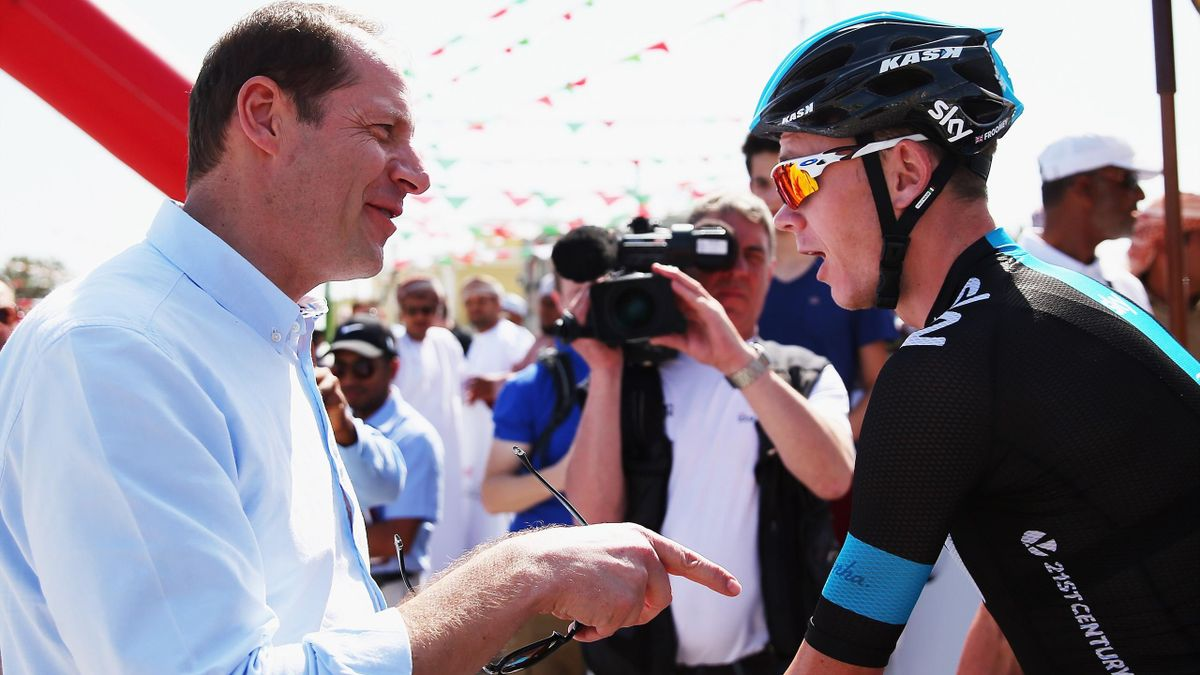 Christian Prudhomme y Chris Froome - Tour de Francia
