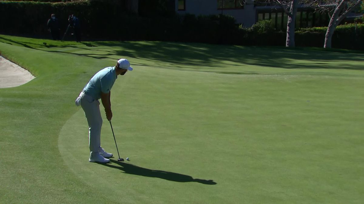 Golf : PGA Tour Genesis invitational Day 2 : D.Johnson birdie