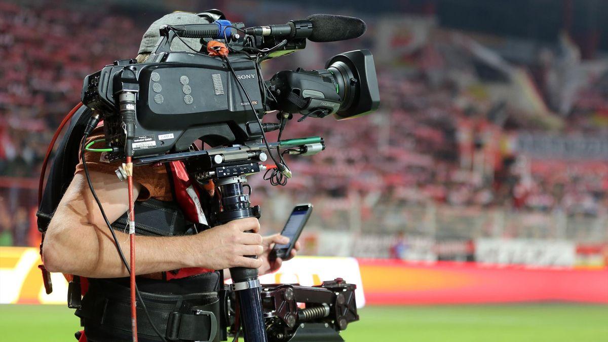 Kameramann im Stadion an der alten Försterei
