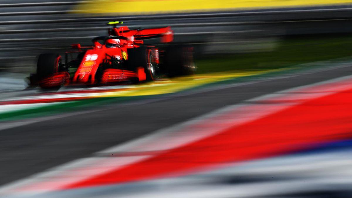 Charles Leclerc (Ferrari) lors du Grand Prix d'Autriche, le 5 juillet 2020