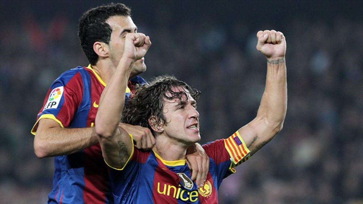 Busquets, Puyol: Puyol wishes for former team-mate Busquets to take his famous shirt number