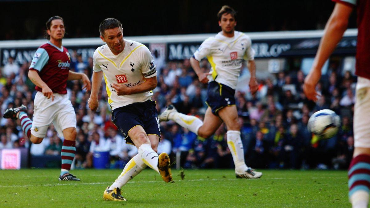 Robbie Keane of Tottenham scores against Burnley in 2009 (Reuters)