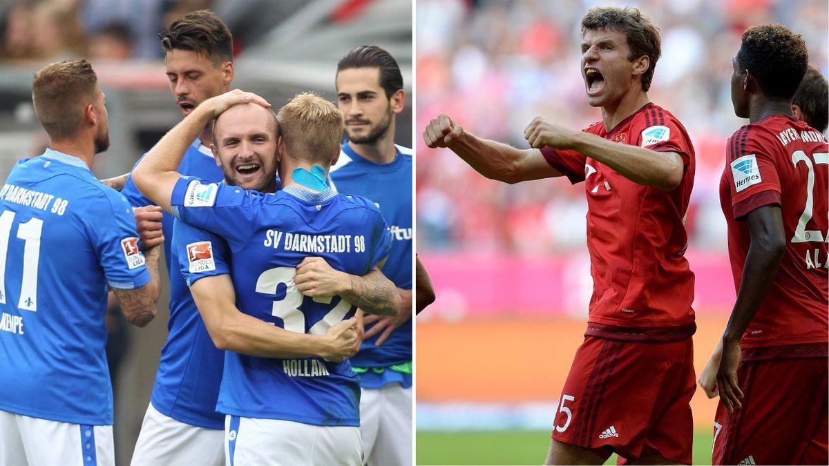 Duell der Gegensätze: Darmstadt erwartet die Münchner Bayern