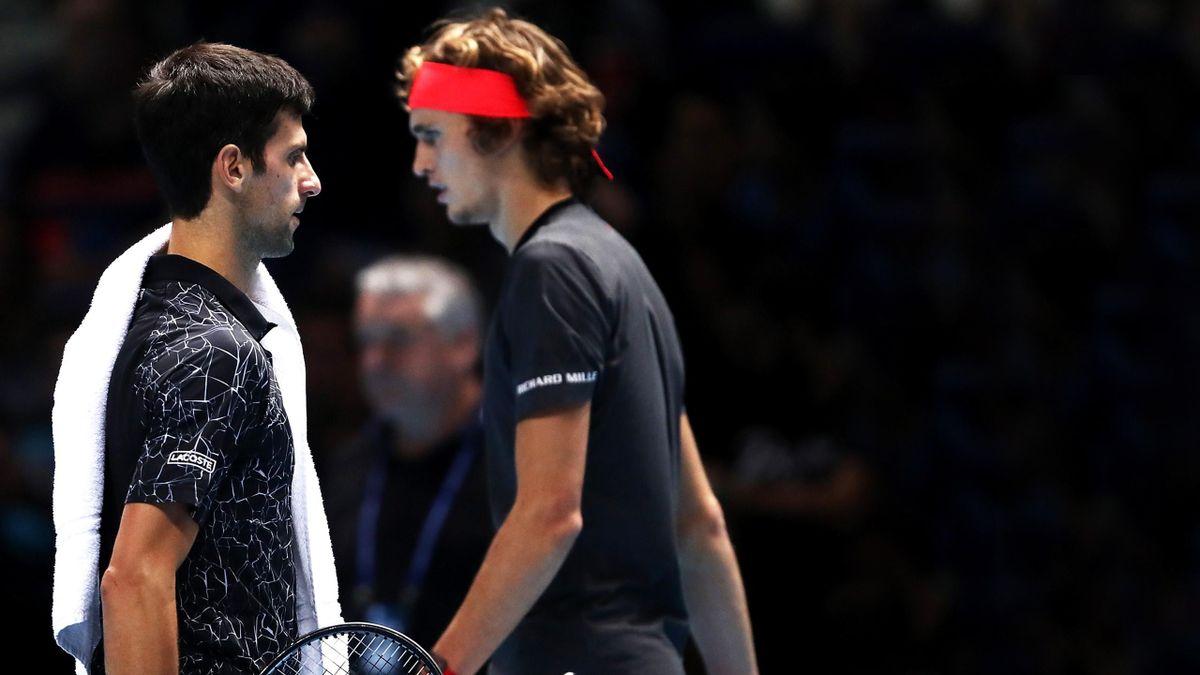 Novak Djokovic und Alexander Zverev