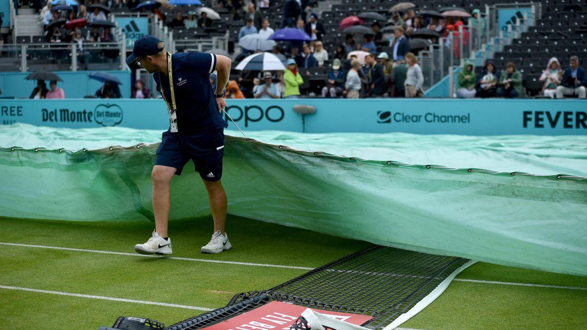 La pluie au Queen's à Londres en 2019