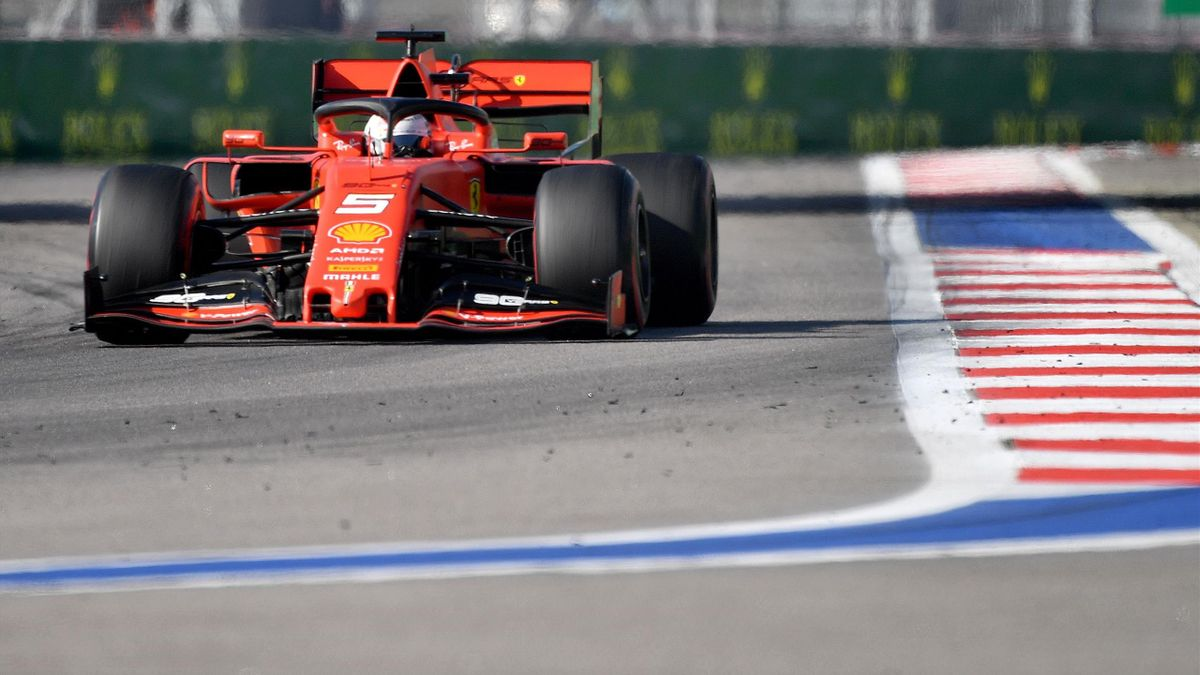 Sebastian Vettel (Ferrari) au GP de Russie