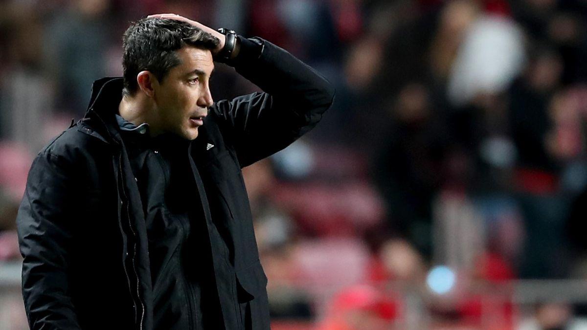 L'entraîneur du Benfica Bruno Lage lors de la rencontre opposant le SLB à Moreirense, le 2 mars 2020