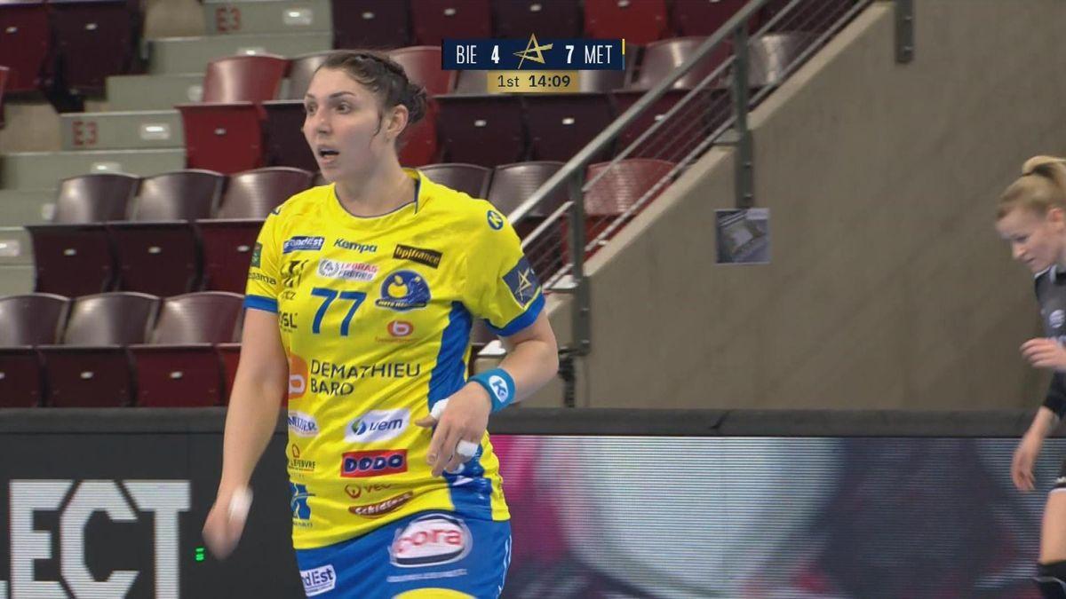 Handball Champions League: Goal Metz against Bietighem Assist by Louise Katharina Burgaard