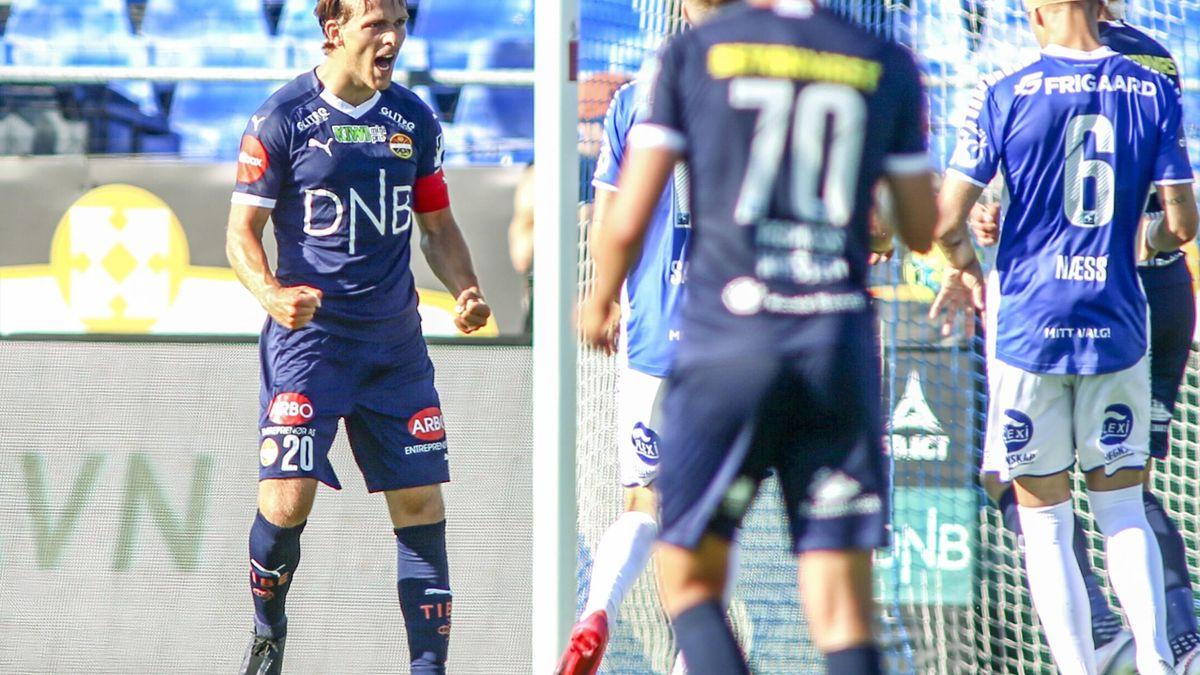 Godsrets Mikkel Maigaard (t.v) linkes til Eliteserie-kollega Sarpsborg 08.