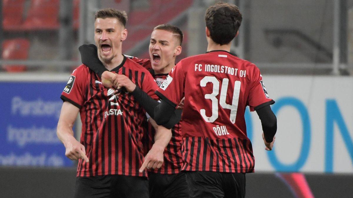 Der FC Ingolstadt jubelt über den Heimsieg gegen Türkgücü München