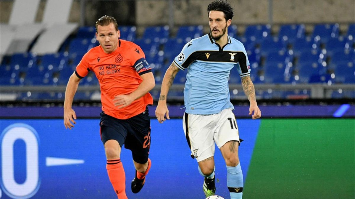 Ruud Vormer, Luis Alberto - Lazio-Bruges - Champions League 2020/2021 - Getty Images