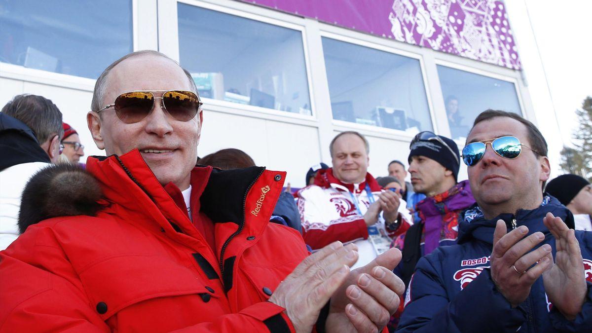 Putin and Medvedev in Sochi