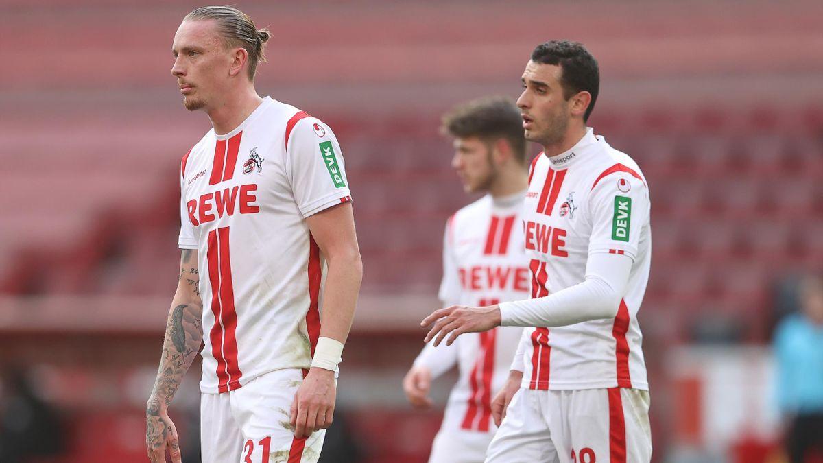 Marius Wolf (links) und Ellyes Skhiri - 1. FC Köln