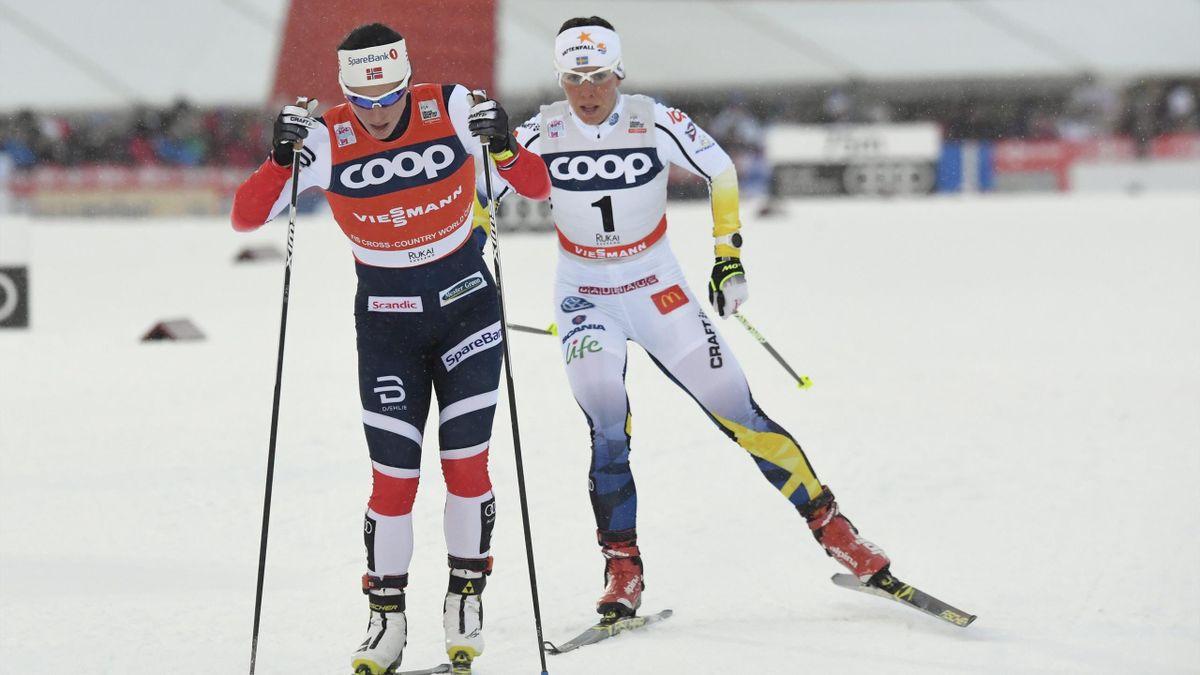 Marit Bjoergen et Charlotte Kalla