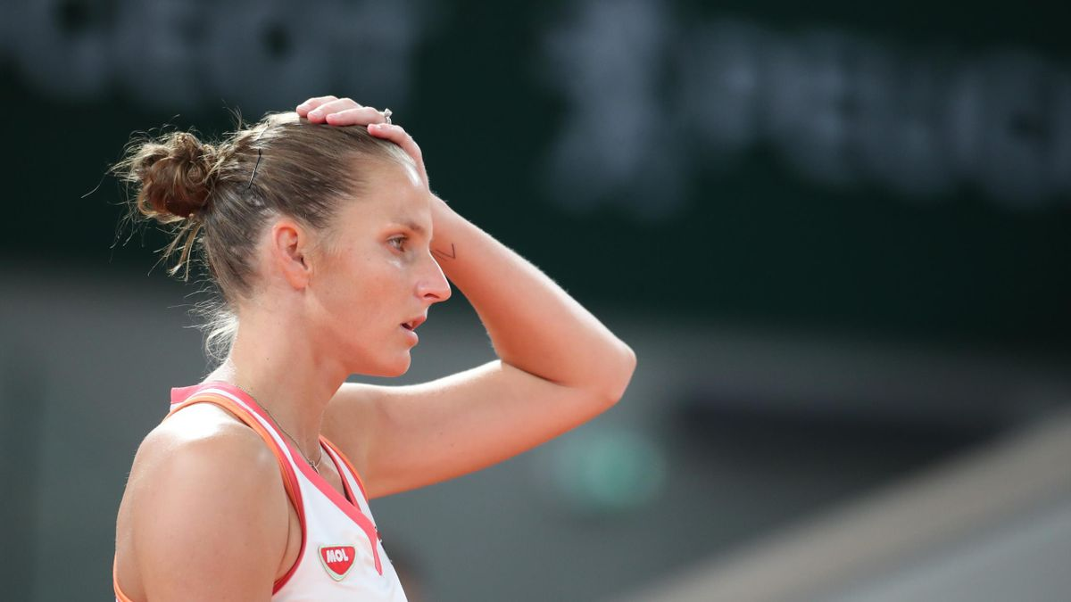 A dejected Karolina Pliskova
