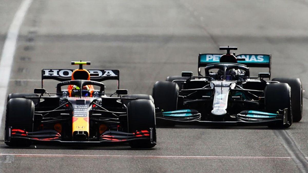 Sergio Pérez (Red Bull), Lewis Hamilton (Mercedes) - GP of Azerbaidjan 2021