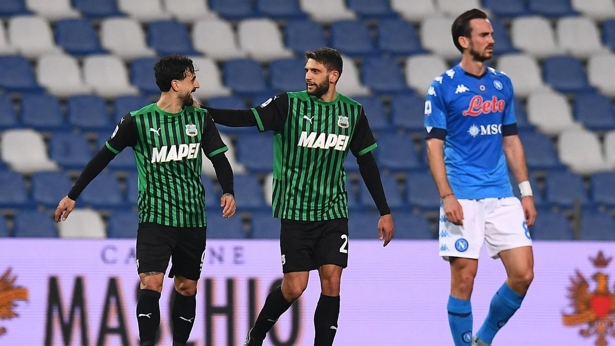 Caputo, Berardi, Sassuolo-Napoli, Getty Images