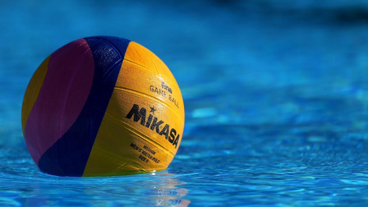 Un ballon de water-polo durant le Championnat du monde 2019