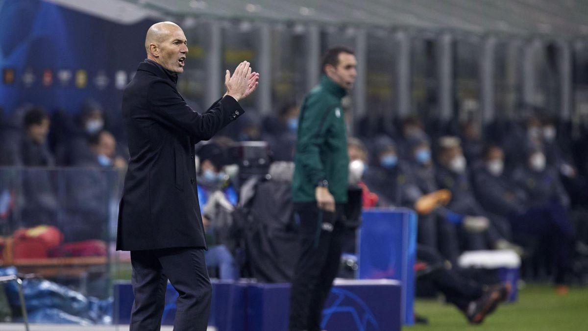 Zinedine Zidane lors de la rencontre Inter - Real Madrid / Ligue des champions