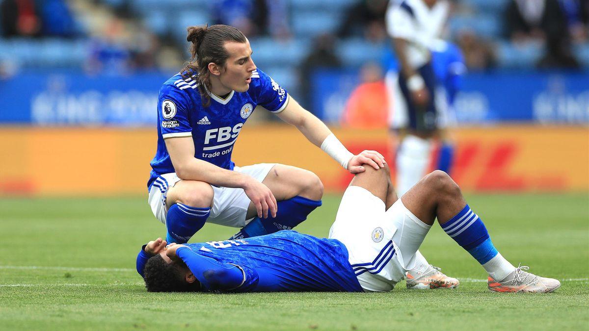 Wesley Fofana (Leicester) en larmes lors de la 38e journée