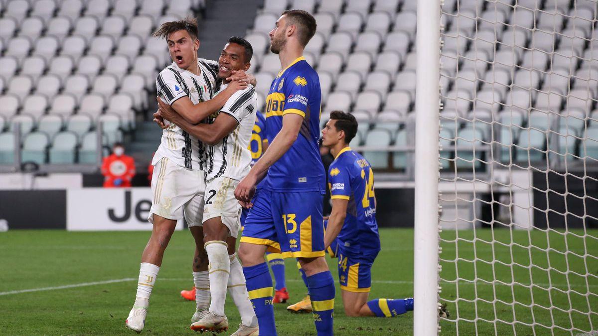 Paulo Dybala (links) und Alex Sandro - Juventus Turin