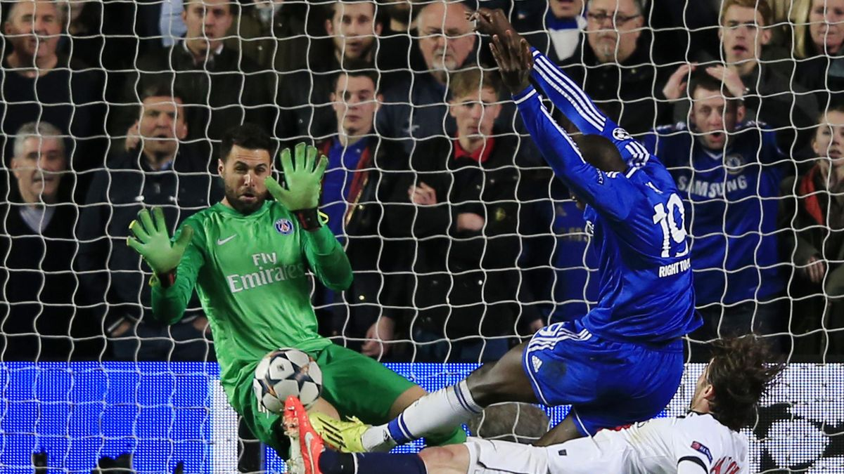 Salvatore Sirigu encaisse le but de Dema Ba goal, Chelsea - PSG 2014