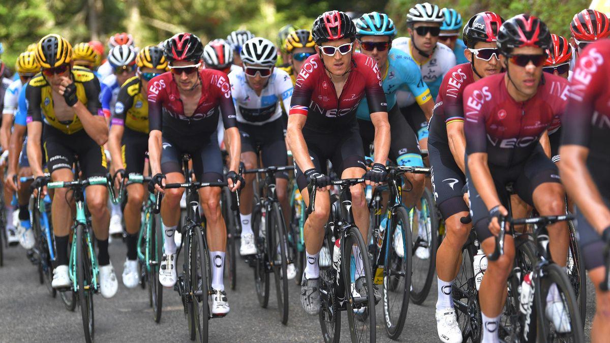 Le peloton du Tour de France.