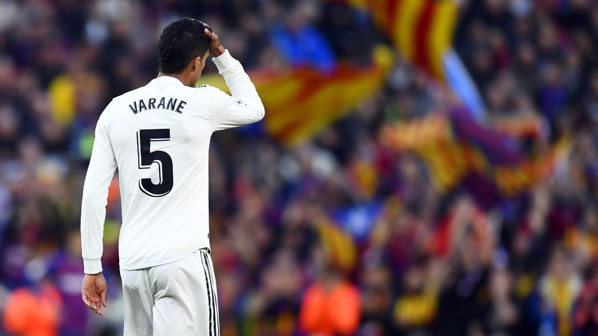Raphaël Varane (Real Madrid) and Barcelona.