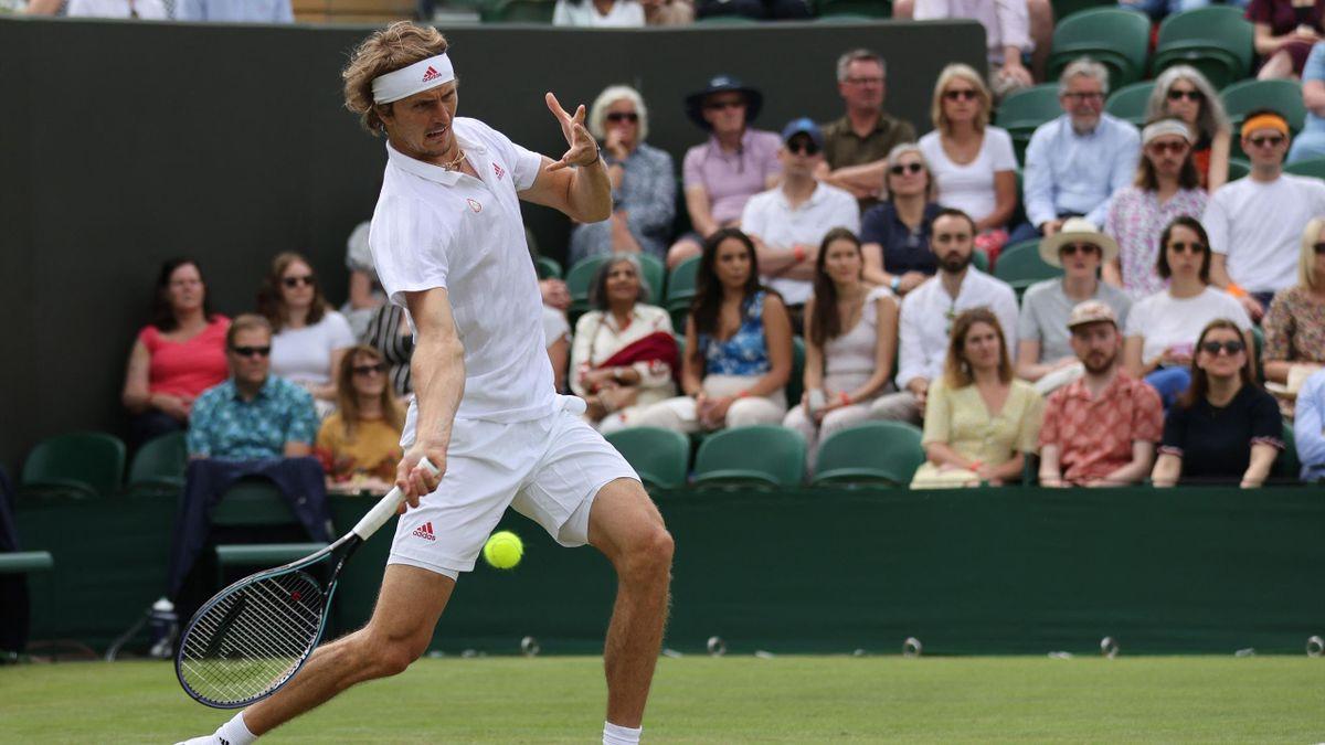 Alexander Zverev in Wimbledon 2021