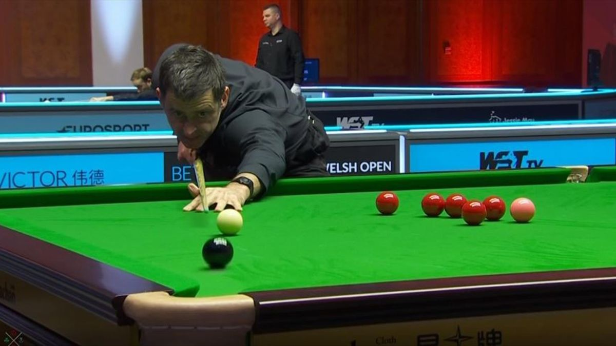 Ronnie O'Sullivan in Aktion bei den Welsh Open gegen Martin Gould