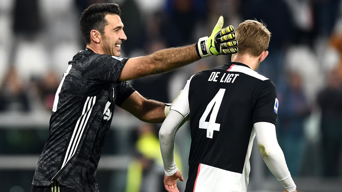 Buffon, de Ligt - Juventus-Udinese - Serie A 2019/2020 - Imago