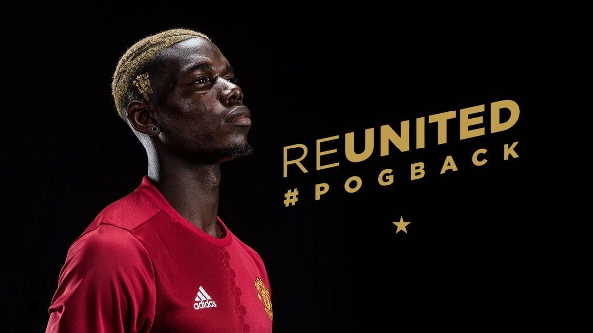 Pogba a signé à Manchester United