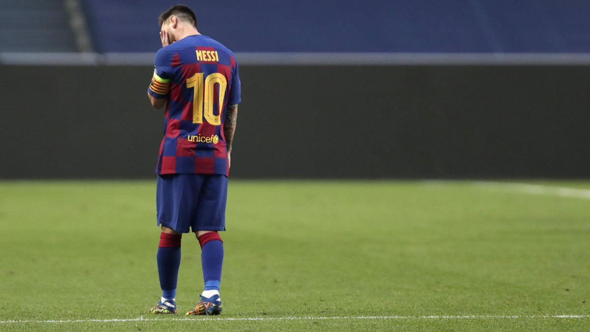 Lionel Messi (FC Barcelona) ist enttäuscht