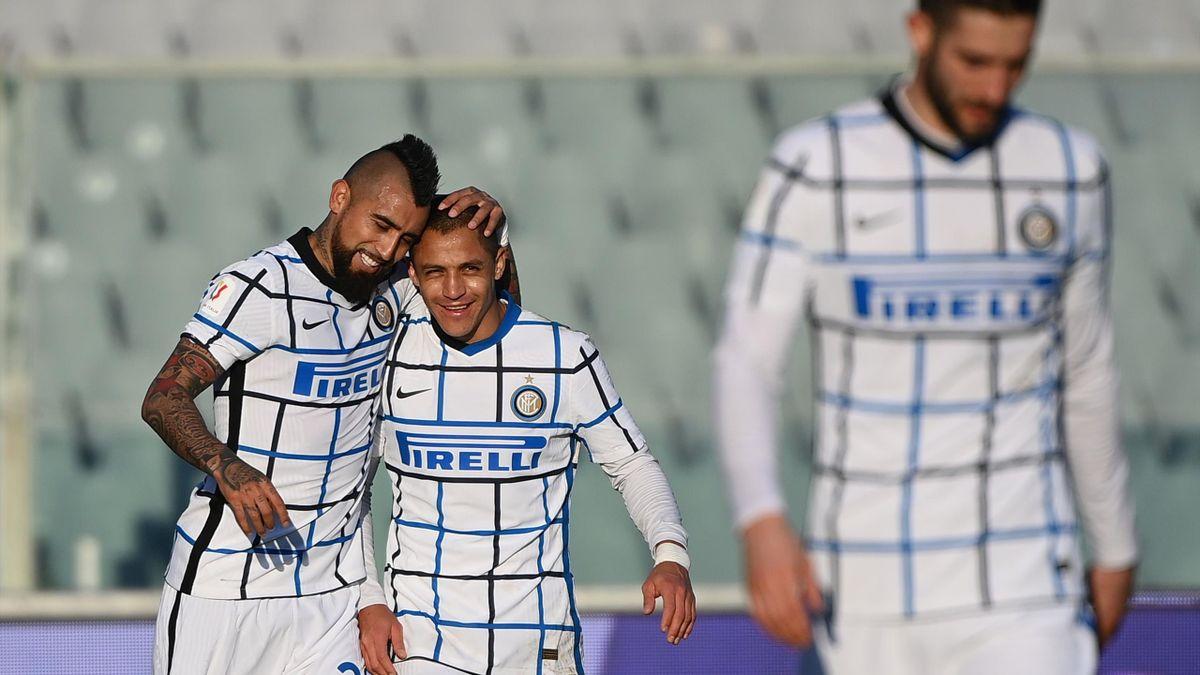 Arturo Vidal, Alexis Sanchez - Inter Mailand