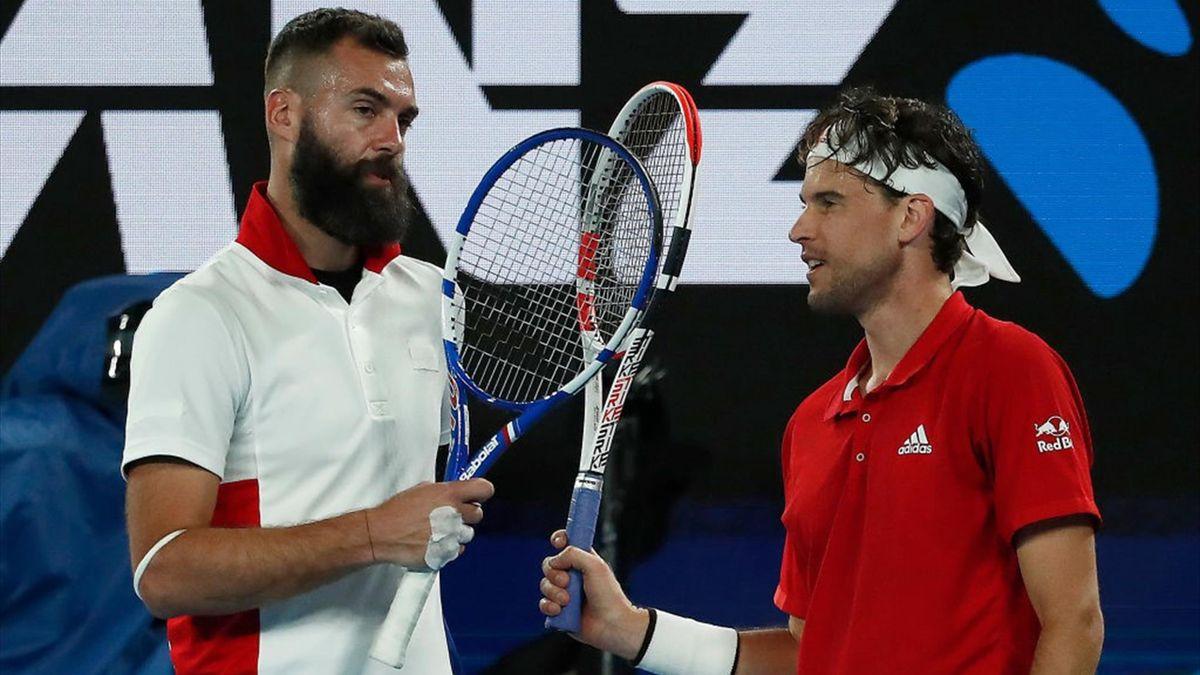 Benoît Paire après son abandon contre Dominic Thiem en ATP Cup le 5 février 2021