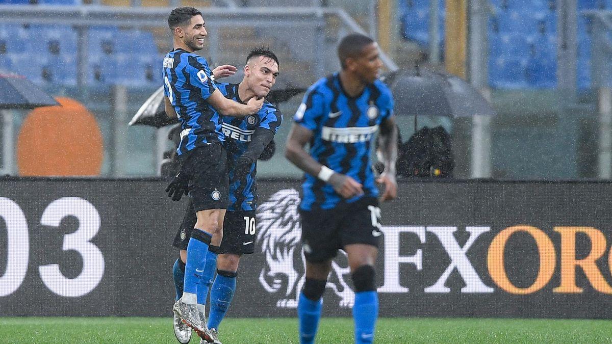 Achraf Hakimi e Lautaro Martinez, Inter 2020-2021 (Getty Images)