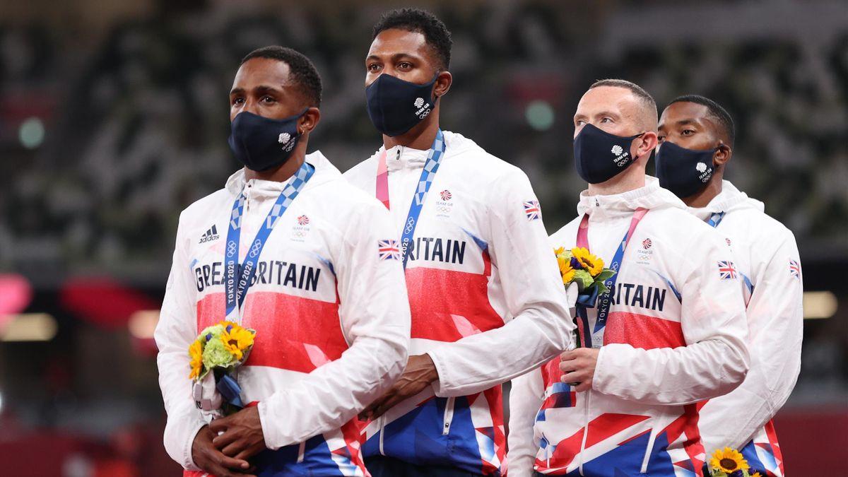 Chijindu Ujah, Zharnel Hughes, Richard Kilty and Nethaneel Mitchell-Blake - Great Britain