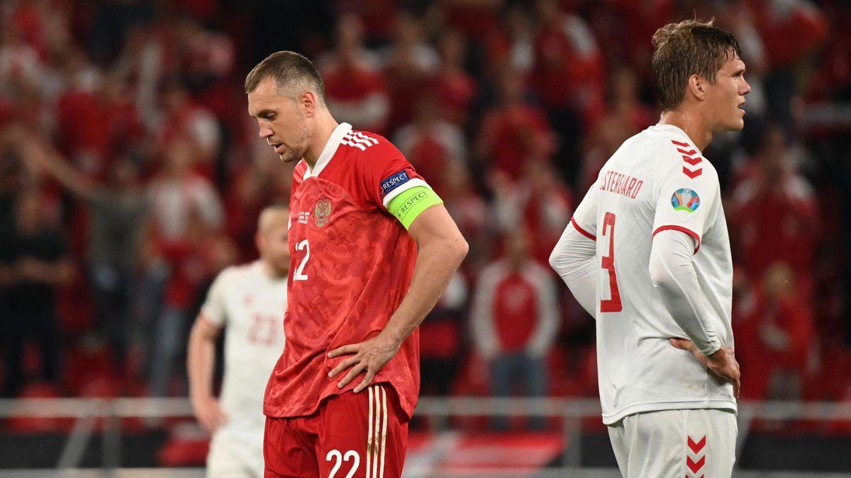 Артем Дзюба (Россия), Янник Вестергор (Дания), Евро-2020