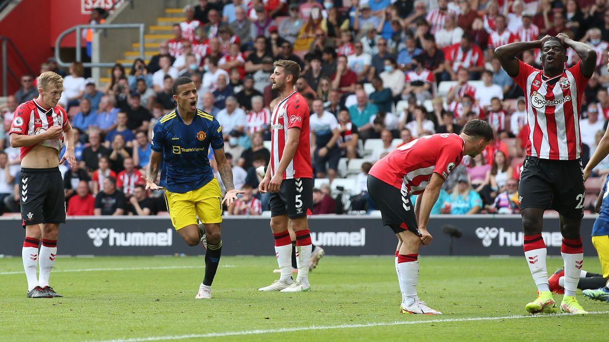 Mason Greenwood buteur avec Manchester United contre Southampton