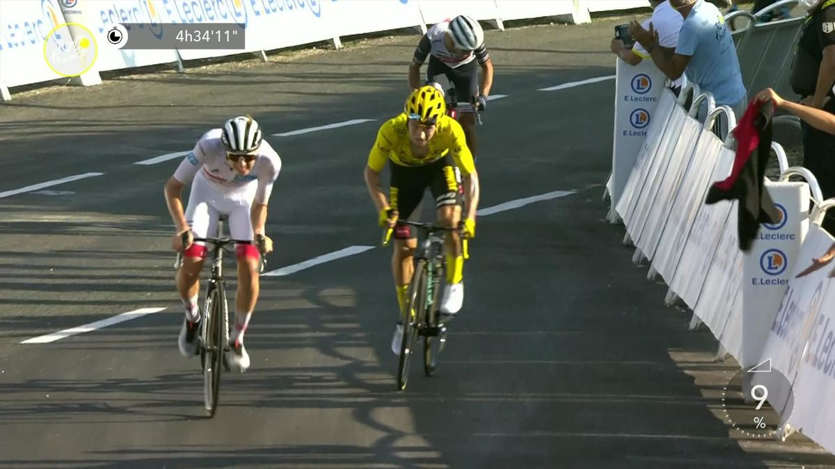 Tour de France: Tadej Pogacar wins stage 15 (finiah)