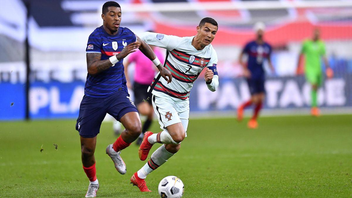Kimpembe face à Ronaldo lors de France-Portugal