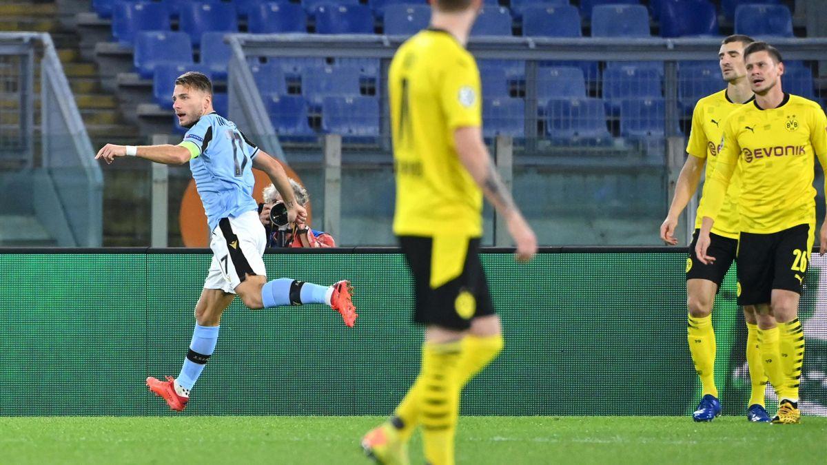 Ciro Immobile, gol şi assist în Lazio - Dortmund 3-1
