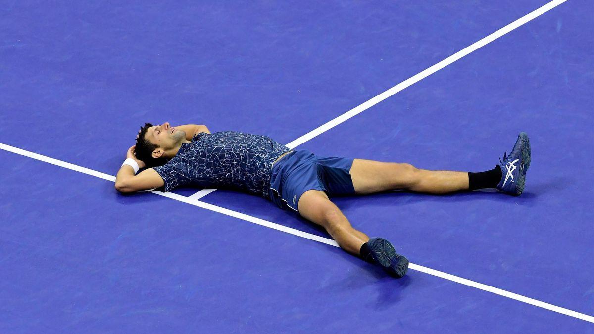 Novak Djokovic après son succès lors de l'US Open 2018