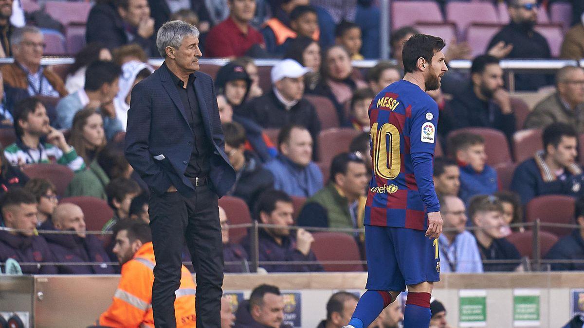 Quique Setien are șanse mici să mai rămână pe banca Barcelonei