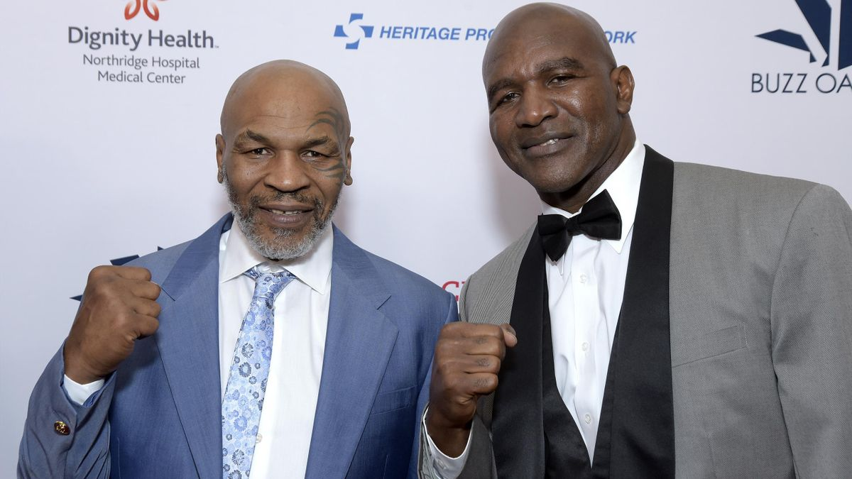 Mike Tyson and Evander Holyfield.