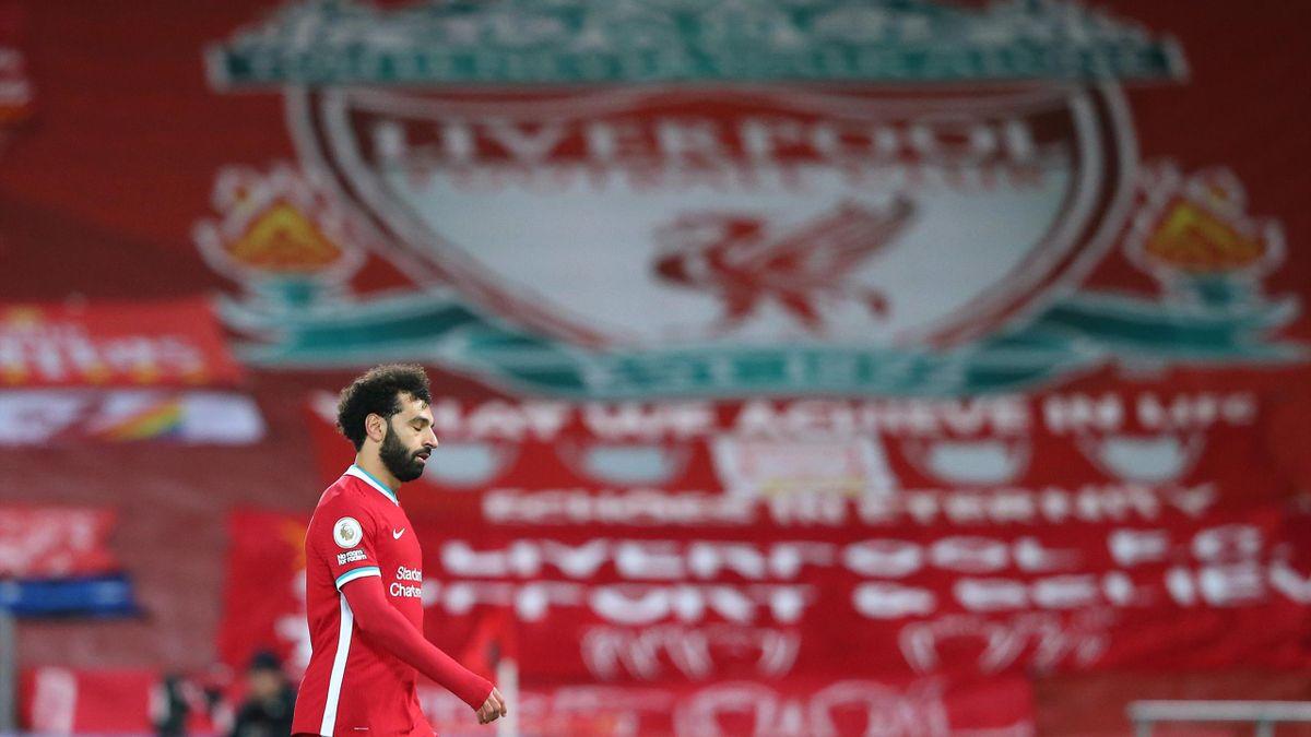 Mohamed Salah moins en réussite avec Liverpool.