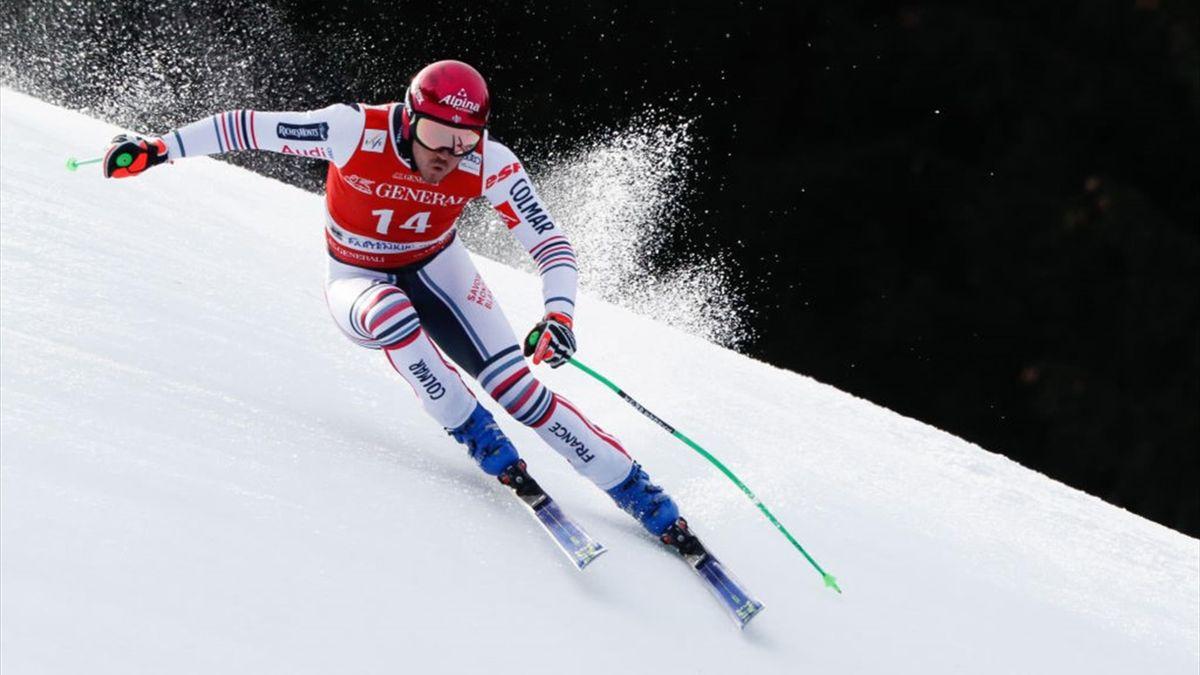 Nils Allègre lors du Super-G à Garmisch Partenkirchen le 6 février 2021