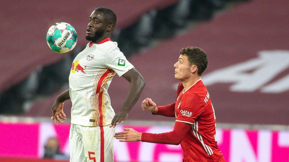 Leipzigs Dayot Upamecano (links) soll bereits mit dem FC Bayern verhandeln