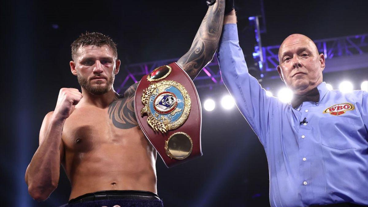 Joe Smith Jr après sa victoire sur Maxim Vlasov pour la ceinture WBO des mi-lourds à Tulsa le 10 avril 2021